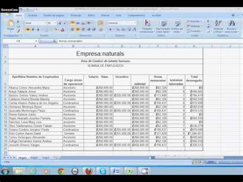 calculo de nominas en excel 2008 2013 automatizado herramientas de tutorial nomina 1 doovi