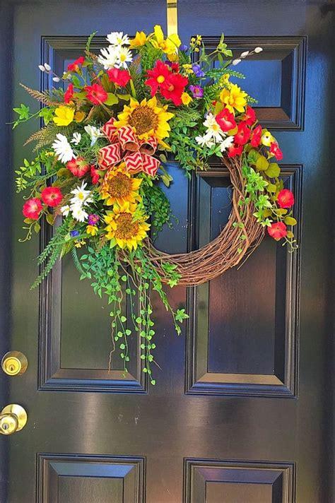 wreath ideas for front door 17 best ideas about summer door wreaths on pinterest