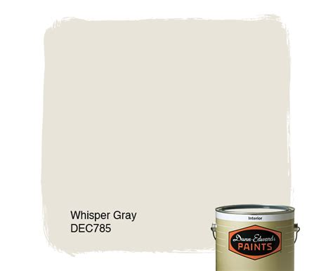 whisper gray dec785 dunn edwards paints