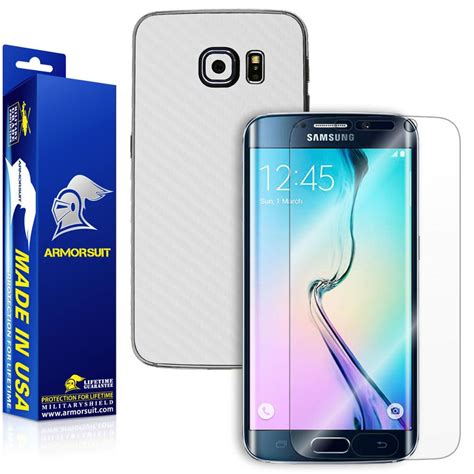 S6 Edge Plus 3d Carbon Back Screen Guard Anti Gores Karbon Not Garsk samsung galaxy s6 edge screen protector screen coverage white armorsuit