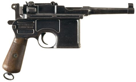 the broomhandle mauser weapon file mauser bolo broomhandle semi automatic pistol 3 jpg internet movie firearms database