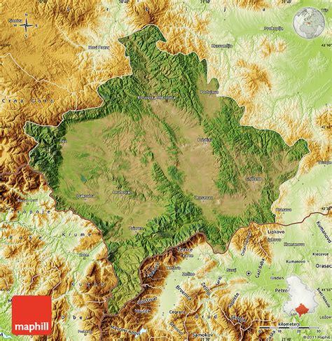 maps kosovo satellite satellite map of kosovo physical outside