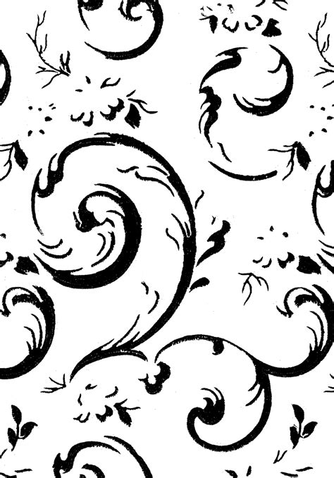 scroll pattern png digital st design stock digital design backgrounds