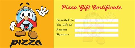 pizza gift certificate template pizza gift certificate template free gift certificate