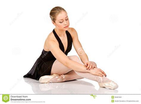 Elegant Floor Plans elegant ballet dancer sitting on the floor stock image