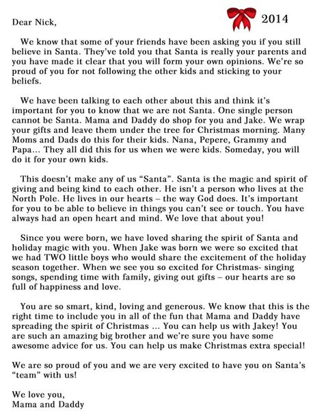 Santa Explanation Letter 17 best ideas about letter explaining santa on