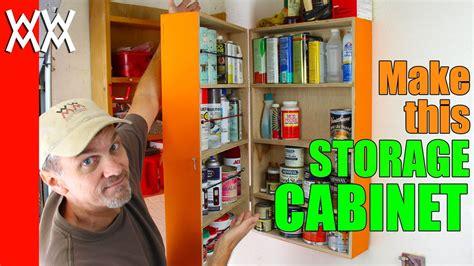 easy wall mounted storage cabinet organize  garage