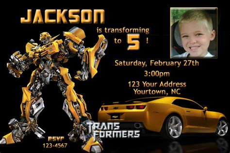 transformer invitation template free printable transformers bumble bee birthday