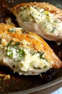 Delish Chicken Recipes Best Spinach Artichoke Stuffed Chicken Recipe How To