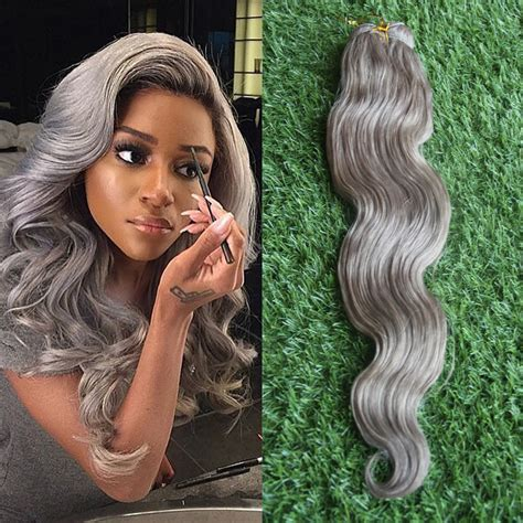can ypu safely bodywave grey hair fashion grade 6a raw unprocessed 100 natural wave silver