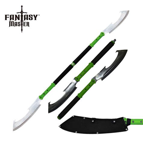staff with blade dual blade defense staff swords of might