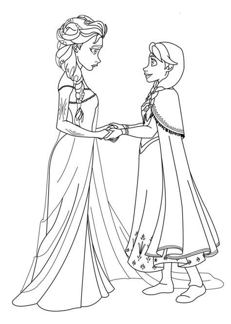 dibujos para colorear de elsa y anna frozen princesas disney dibujos de las princesas anna y elsa frozen para imprimir