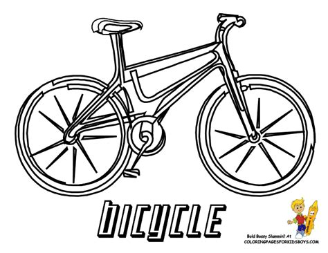 free coloring pages of bicycle s