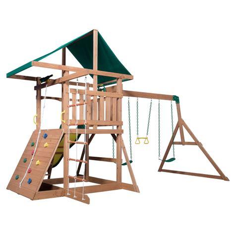 Backyard Discovery Mount Triumph Mount Mckinley Wooden Swing Set