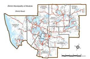 road system map district of muskoka