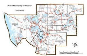 muskoka canada map road system map district of muskoka