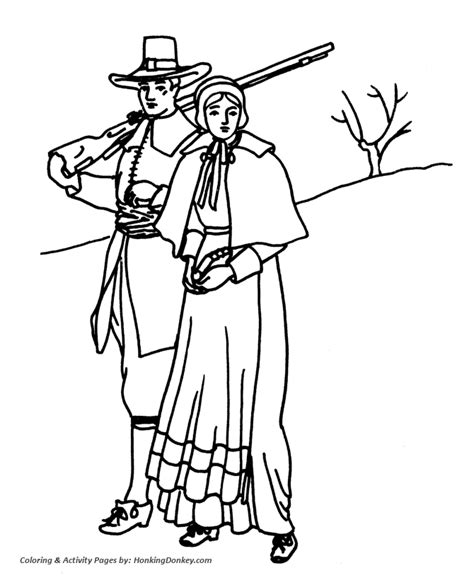 colonial coloring pages coloring home