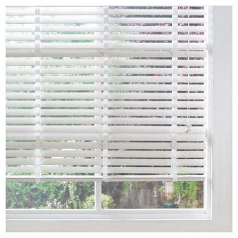 50mm White Wooden Blinds buy wood venetian blind w90cm slats 50mm white from our venetian blinds range tesco