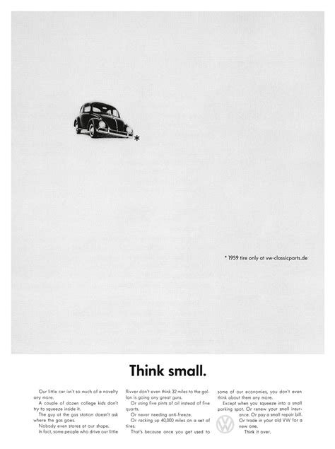 volkswagen think small ddb berlin playing with a classic mini ad
