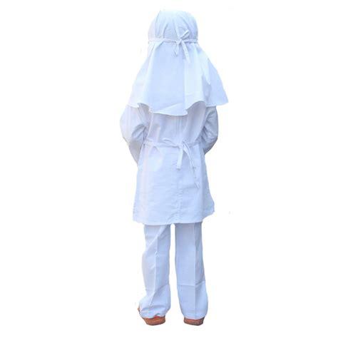 Baju Ihram Anak setelan putih ihram manasik haji anak berbahan katun qonita