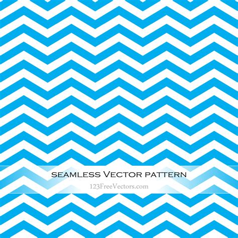 Blue Zigzag Seamless Pattern Vector   123Freevectors Zig Zag Pattern Clipart