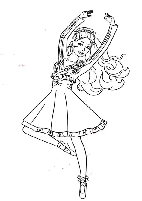 barbie nutcracker coloring pages free ausmalbilder ballett 5 ausmalbilder barbie pinterest