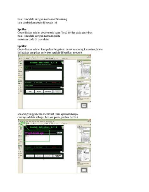 membuat virus tanpa terdeteksi antivirus cara membuat antivirus dengan visual basic 6