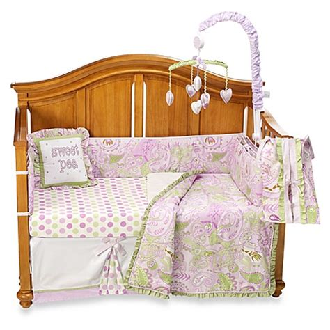 My Baby Sam Sweet Pea 4 Piece Crib Bedding Set And My Baby Sam Crib Bedding