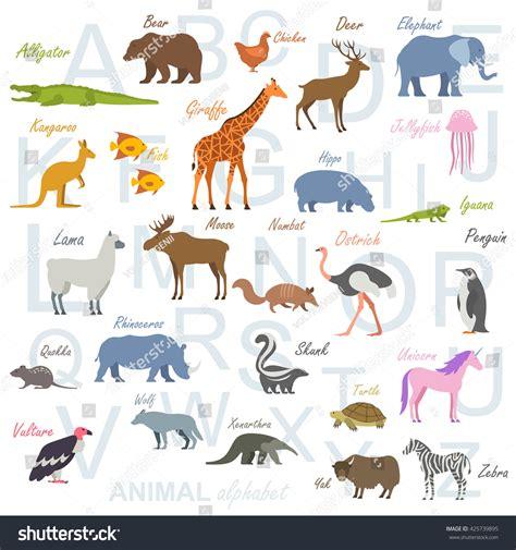 animal alphabet stock vector animal alphabet poster children stock vector 425739895