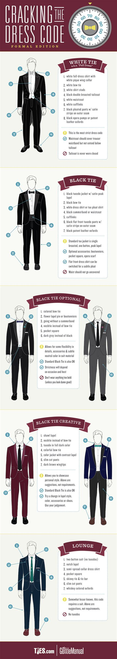 tie color meaning formal dress codes for guide infographic the