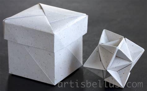 Origami Cube Box - origami artis bellus november 2012