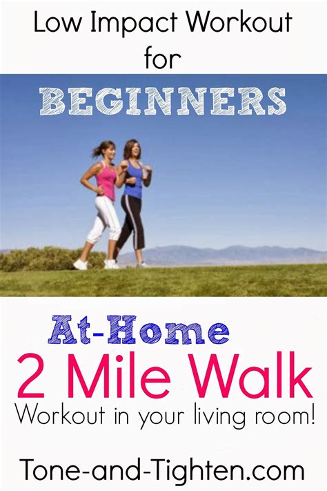 low impact workout for beginners at home 2 mile walk