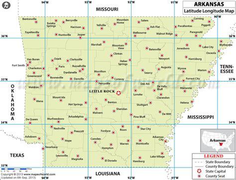 arkansas on map of usa arkansas latitude and longitude map arkansas lat