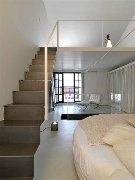 Bedroom Stairs Grey And White Bedroom Ideas Decosee