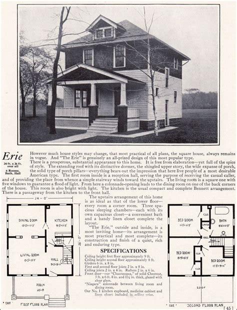 Four Square Floor Plan by 1922 Bennett Homes Erie 1909 Pinterest
