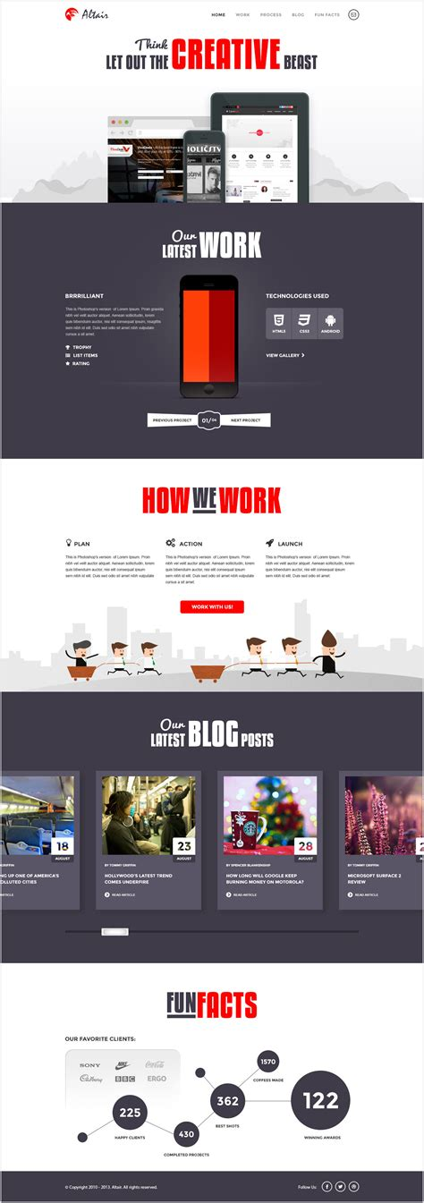 download free website design layout in psd altair modern psd template download download psd