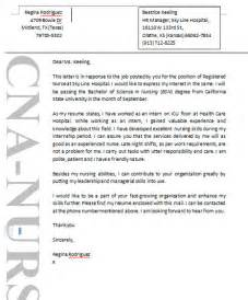 Exles Of Cover Letters For Nursing by Sle Cover Letters For Nursing Resume Sales Nursing