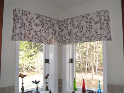 corner window drapes tailored pleated valance for corner window in embroidered