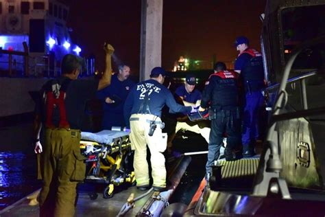 boat crash in san diego 17 rescued 3 hurt in mega yacht fishing boat crash off