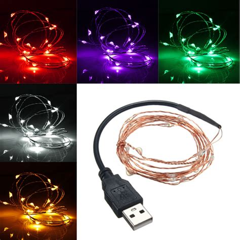 2m 20 led usb copper wire led string fairy light for
