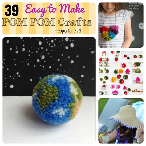crafts to sell 40 diy pom pom crafts ideas for home decor make and