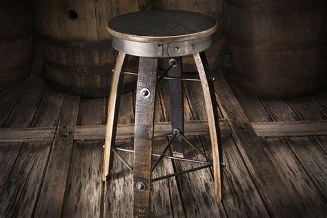 whiskey wood bar stools by heritage handcrafted