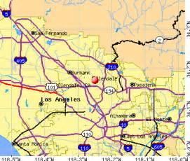 glendale california map and glendale california satellite