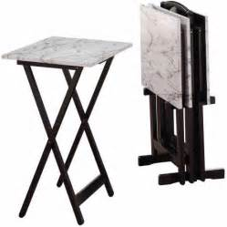 Linon Home Decor Tray Table Set Faux Marble Brown White Faux Marble Tray Set Walmart