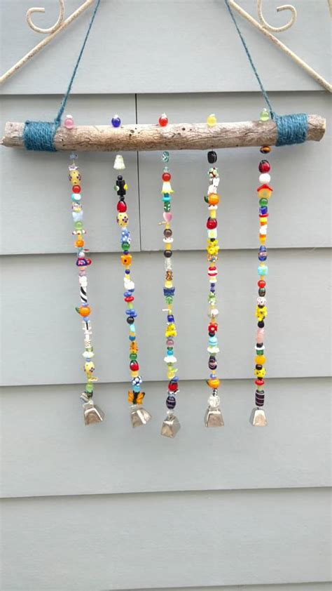 diy beaded wind chimes multi colored beaded wind chime bigdiyideas