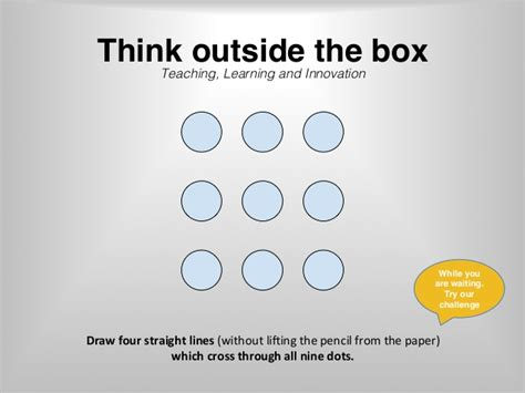 Think Out The Box think out the box interactive presentation