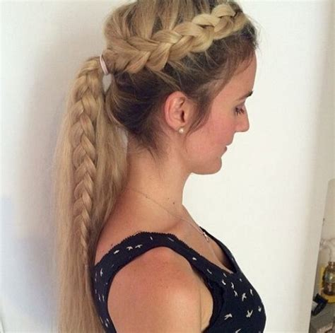 hairstyles braided ponytail 15 adorable french braid ponytails for long hair popular
