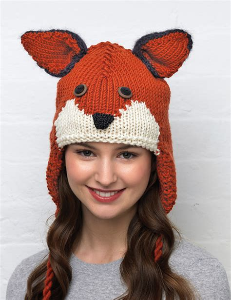 knitted fox hat green eyed monsters kate heppell plays with yarn