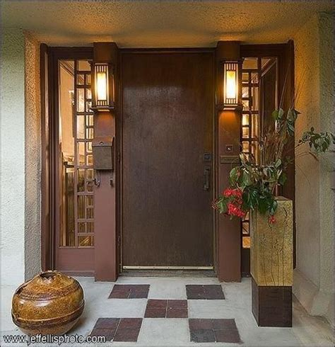 Front Door Interiors Frank Lloyd Wright Residence Front Door Doors Gates Doorknobs Pinterest