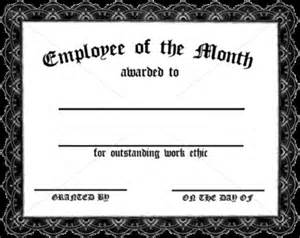 Employee Of The Month Certificate Templates Employee Of The Month Certificate Template Selonjoran Org